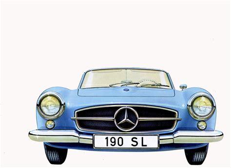 sketch book car 1961 mercedes 190 sl brochure