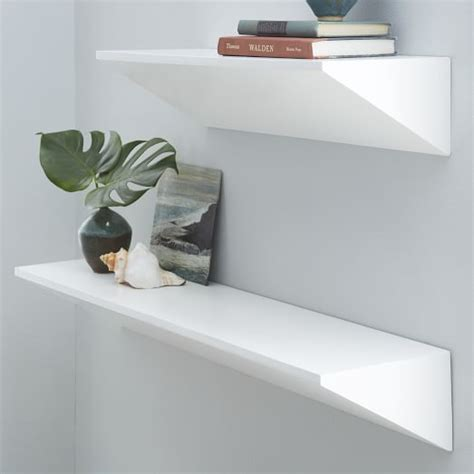 White On The Shelf by Floating Wedge Shelf White West Elm