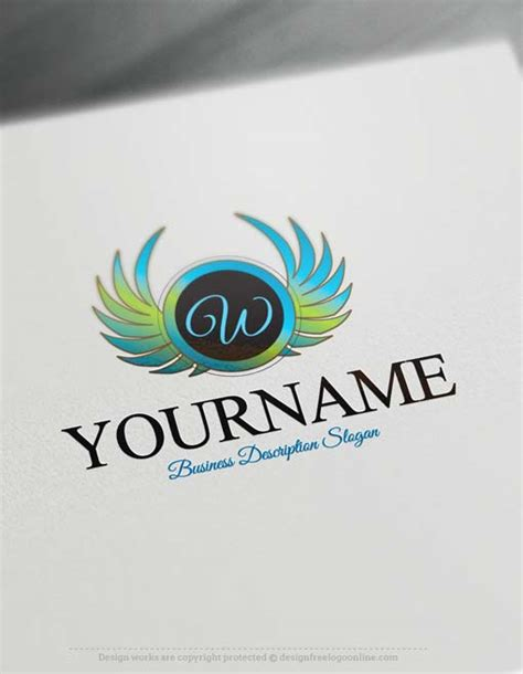 free logo to design make own wings logo design with our free logo design maker