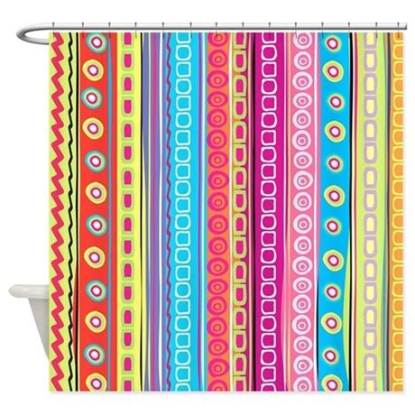 colorful shower curtain colorful stripes shower curtain by fuzzychair
