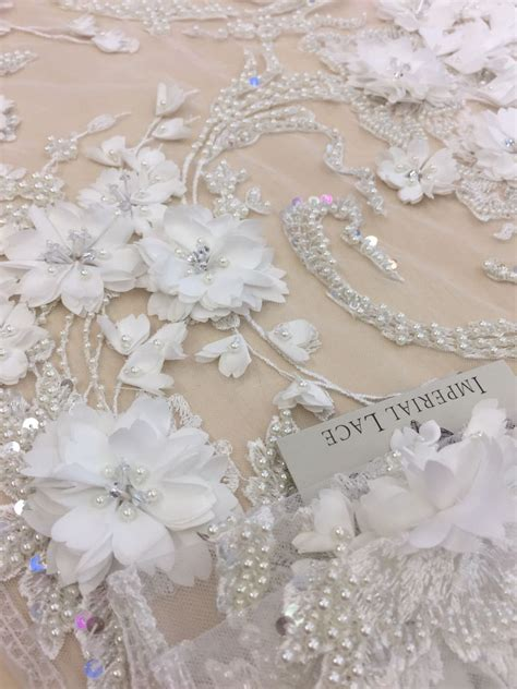 pearl beaded fabric white beaded lace fabric pearl and sequins emroidered