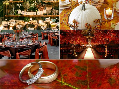 decoration themes fall wedding