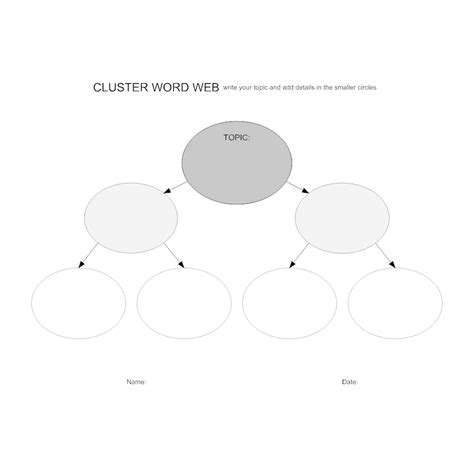Cluster Word Web Worksheet Cluster Word Web Template