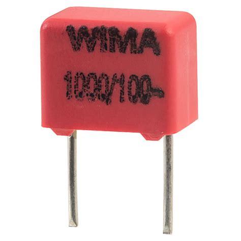 polypropylene capacitors wima wima fkp2d011001d00ks fkp2 1000pf 177 10 100v radial polypropylene capacitor rapid