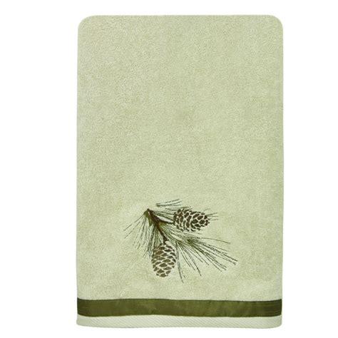 pine cone bathroom accessories pine cone diamond bath towel overstock