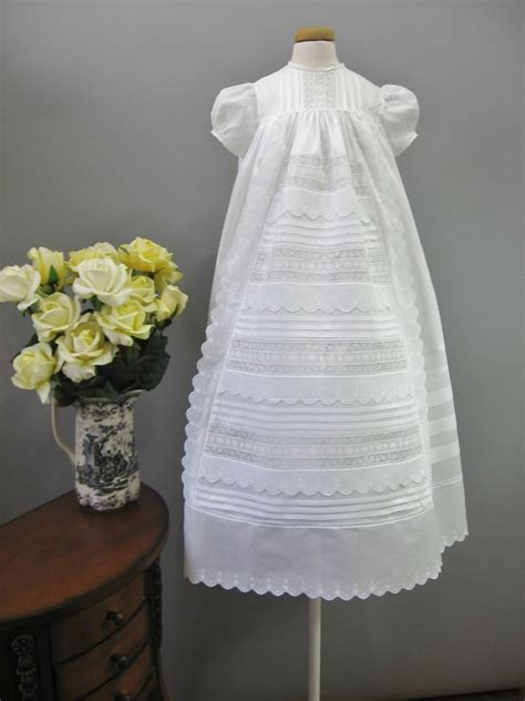 Handmade Christening Gowns - handmade christening gown baptism gown vintage antique