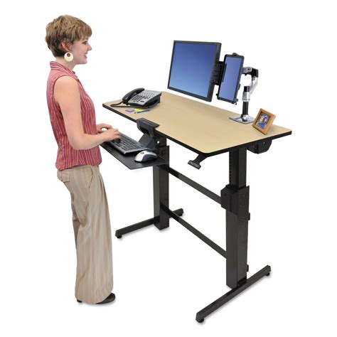 Stand To Sit Desk Workfit D Sit Stand Workstation By Ergotron 174 Erg24271928 Ontimesupplies