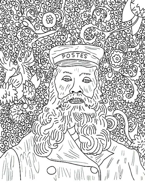 Coloring Pages Of Paintings gogh sunflowers in paintings coloring page