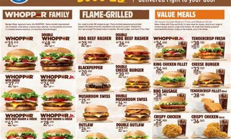 pesan  beragam menu delivery burger king info