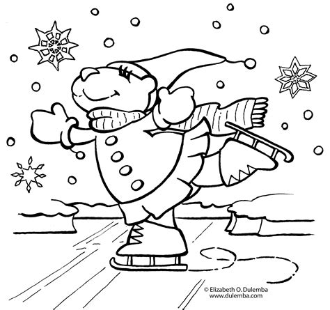 winter coloring pages free large images