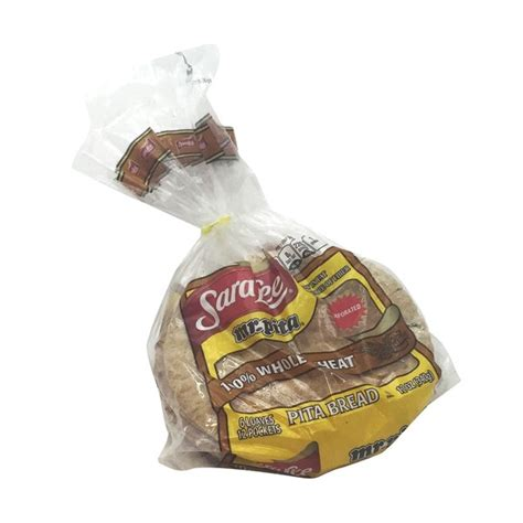 Sarra Pita 100 whole wheat pita bread from smart