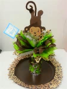 monkey centerpieces for baby shower s creations baby shower theme centerpieces