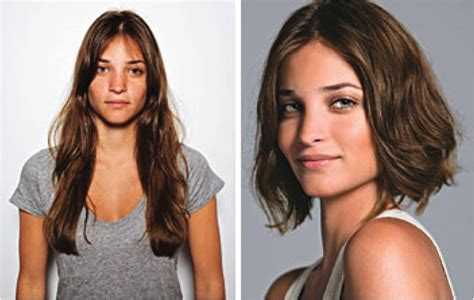 One of my favourite long to short hair makeovers. (source: Glamour)   Hair   Pinterest   Short