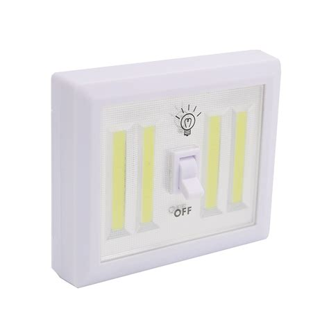 cob led wireless night light with switch 8w cob led wall switch wireless closet cordless night