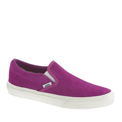 Murah Adidas Slip On Made In 03 j crew unisex vans classic slip on sneakers in suede in purple lyst