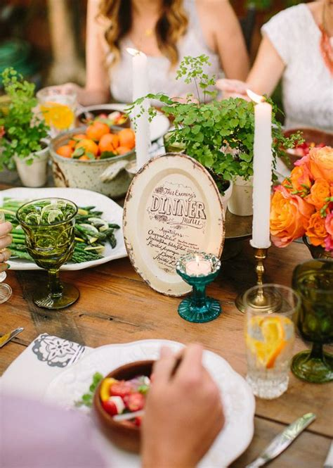 Backyard Wedding Buffet Ideas Summer Backyard Wedding Dinner Inspiration