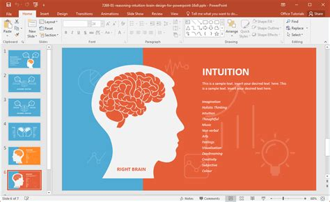 Left Brain Vs Right Brain Powerpoint Template Power Templates Powerpoint