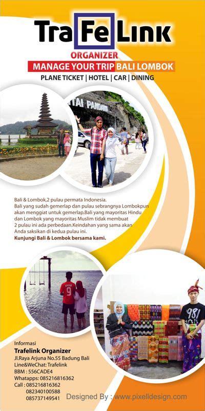 desain brosur wisata contoh brosur travel agent wisata menarik