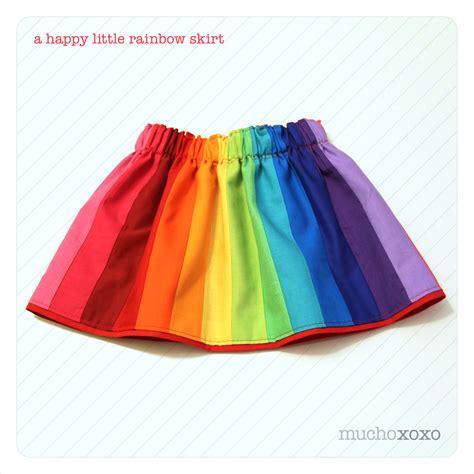 Rainbow Skirt 1 a happy rainbow skirt for skirt week mucho xoxo