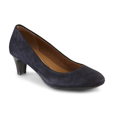 comfort womens dress shoes i love comfort women s suede encore dress pump navy