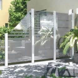 sichtschutz terrasse glas glaselemente wind und sichtschutz bauhaus ansehen