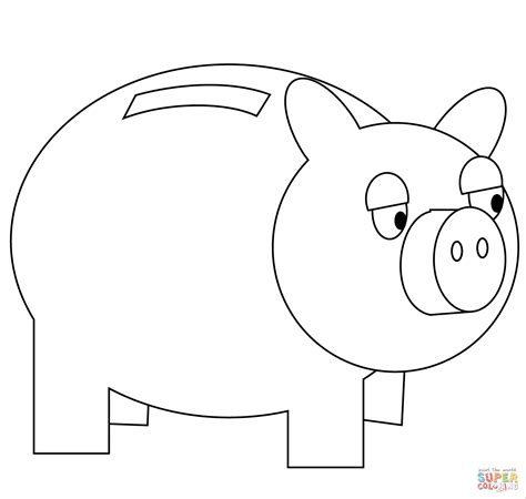 Piggy Bank Coloring Page Free Printable Coloring Pages Piggy Bank Coloring Page