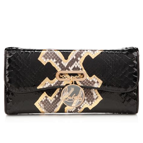 Found A Perfectly Chic Python Leather Clutch by Christian Louboutin New Handbags 2013 All Handbag Fashion