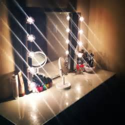 Vanity Mirror With Lights And Table Ikea Makeup Mirror With Lights Makeup Vidalondon
