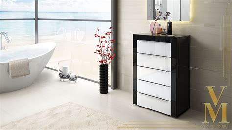 Kommode Schwarz by Sideboard Tv Stand Unit Cabinet Chest Of Drawers La Paz