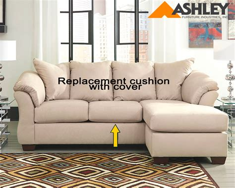 ashley furniture couch cushions ashley 174 darcy replacement cushion and cover 7500018 stone