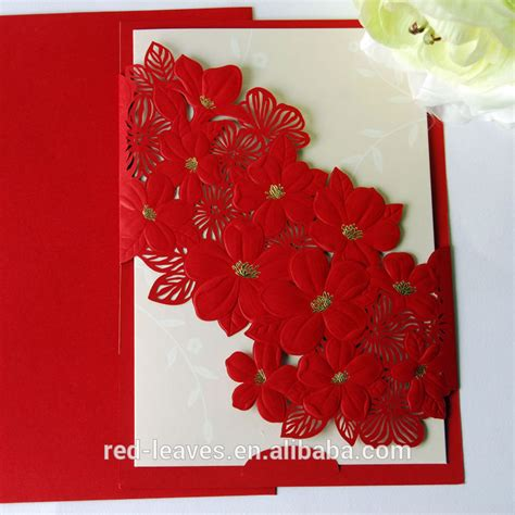 Wedding Card Design by Laser Cut Flower Wedding Card Design Foilding