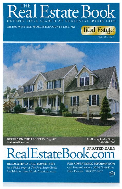 real living realty featured home in the real estate book