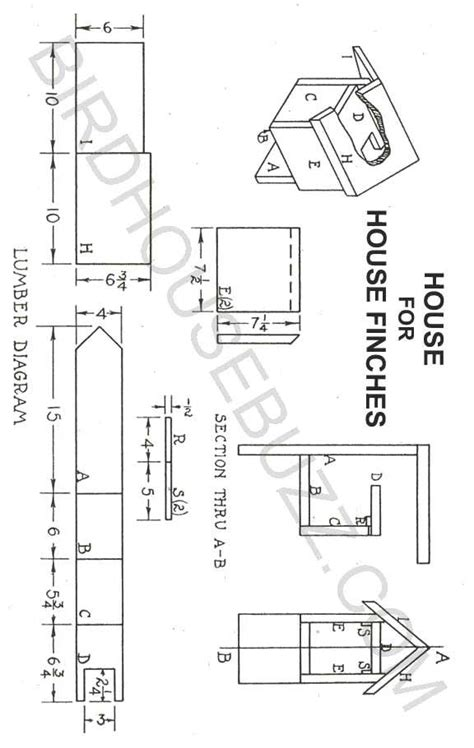 finch bird house plans unique 156 best diy free home plans free bird house plans finch