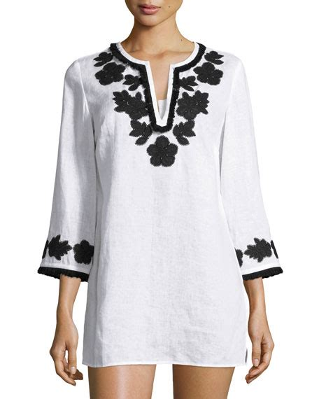 Qr Tunic 6 stores in stock burch applique trim tunic new ivory modesens