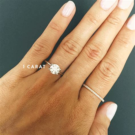 Engagement Ring Finger Size by See How Engagement Ring Sizes Compare On A Real
