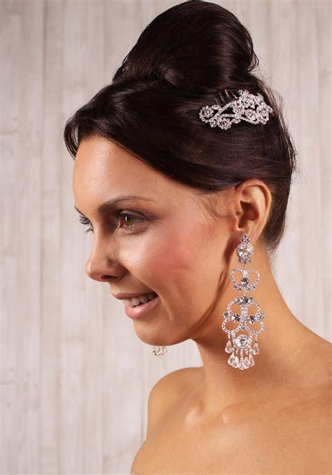 Brautschmuck Lange Ohrringe by Gro 223 E Opulente Brautohrringe Aus Kristalen Und Strass