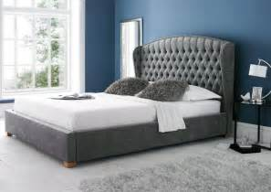 Bed Frames And Headboards King Size Upholstered Bed Frame King Size Beds Bed Sizes