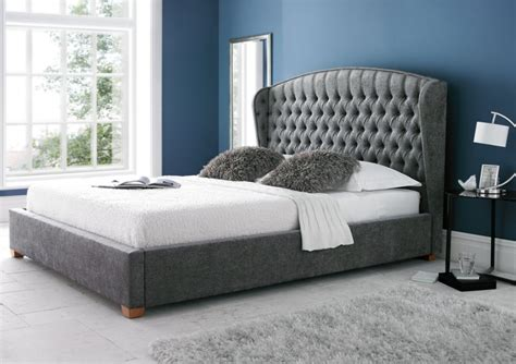 Padded King Bed Frame Upholstered Bed Frame King Size Beds Bed Sizes