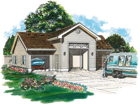 Rv Storage Plans kiley garage and rv storage plan 063d 6004 house plans