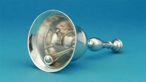 george iii silver table bell bateman