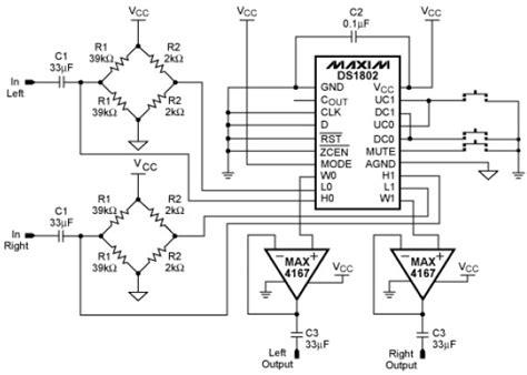 potentiometer circuit diagram ds1802 digital potentiometer project circuit diagram world