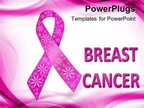 breast cancer ppt template powerpoint template pink breast cancer awareness ribbon
