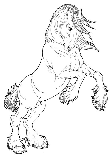 coloring pages of draft horses clydesdale stallion by applehunter deviantart com on