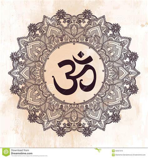 lord ganesha om mandala symbol stock vector image 62357513