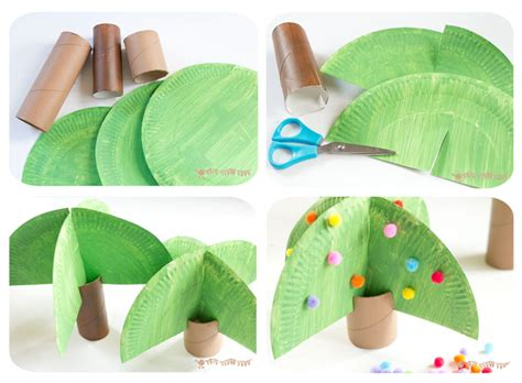 How To Make Rainforest Trees Out Of Paper - jungle playset from toilet paper roll crafts