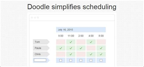 doodle scheduler review doodle and appointlet review simplifying scheduling