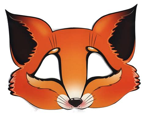 How To Make A Fox Mask Out Of Paper - masks template animals orange fox cut out