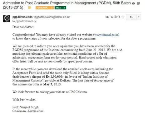 How Many Mba To Receive 4k by How Does An Admit From Isb Iims Look Like Quora