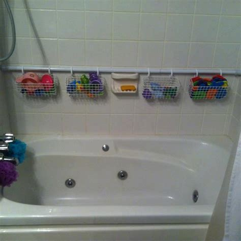 bathtub organizers extra shower curtain rod 7 easy yet wonderful diy bathroom