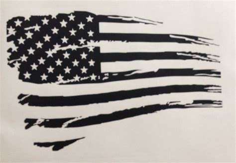 tattered american flag tattoo tattered american flag black and white rustic my truck